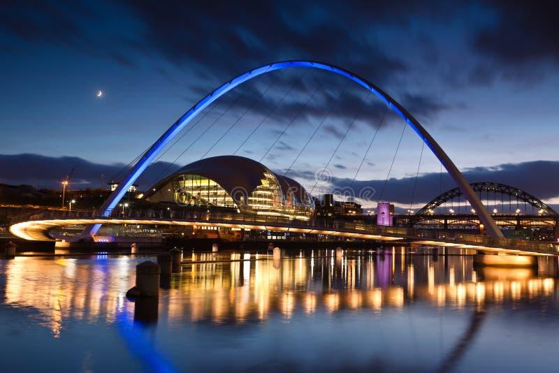 Ponticello Gateshead di millennio fotografia stock libera da diritti