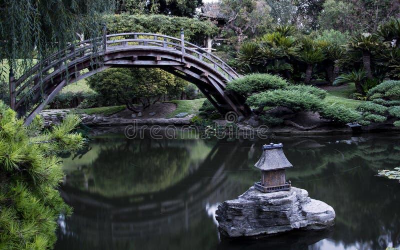 Ponticello giapponese del giardino immagini stock libere da diritti