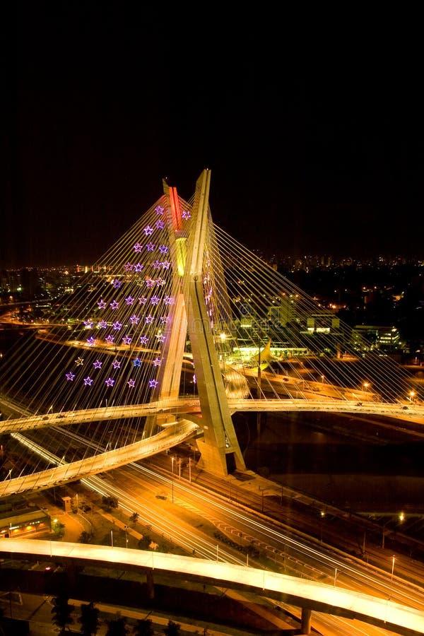 Ponte di Octavio Frias de Oliveira fotografia stock libera da diritti