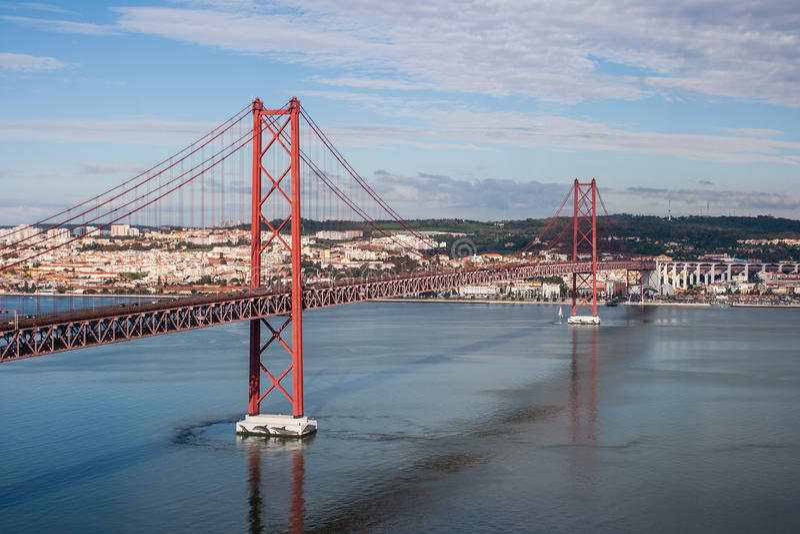 Ponticello a Lisbona fotografia stock