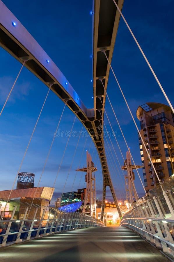 Ponticello Manchester di millennio fotografia stock