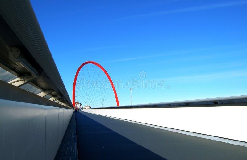 Ponticello olimpico, Torino, Italia immagine stock libera da diritti