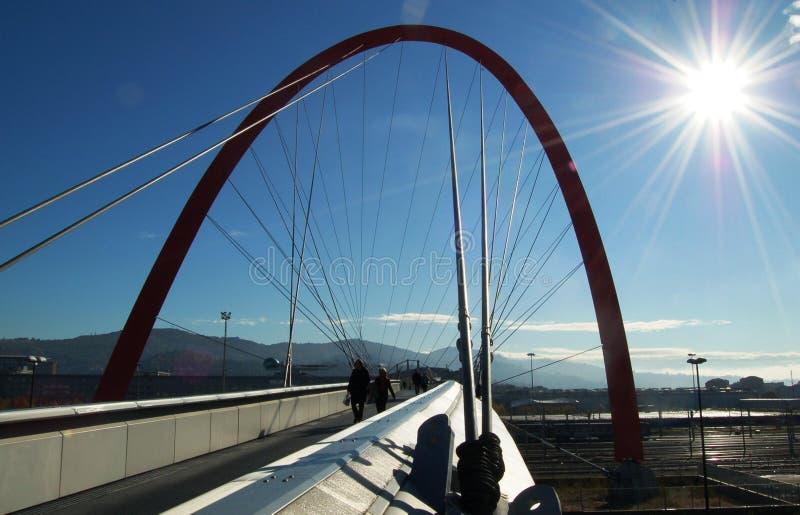 Ponticello olimpico, Torino, Italia immagini stock libere da diritti