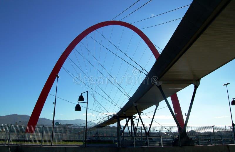 Ponticello olimpico, Torino, Italia fotografia stock libera da diritti