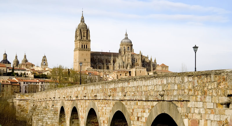Ponticello romano a Salamanca fotografie stock