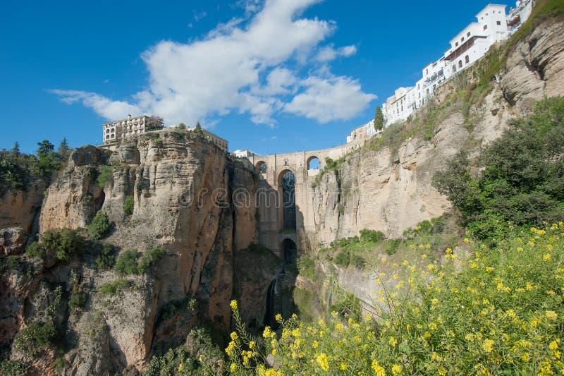 Ponticello a Ronda, Andalusia, ronda, Spagna immagine stock