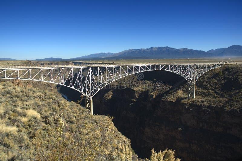 Ponticello sopra il Rio Grande fotografia stock libera da diritti