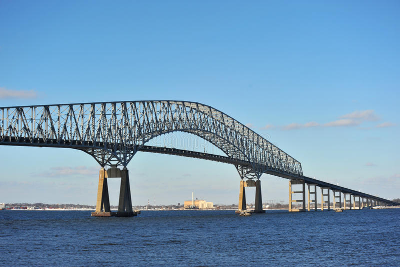 Ponticello sopra la baia di Chesapeake fotografie stock