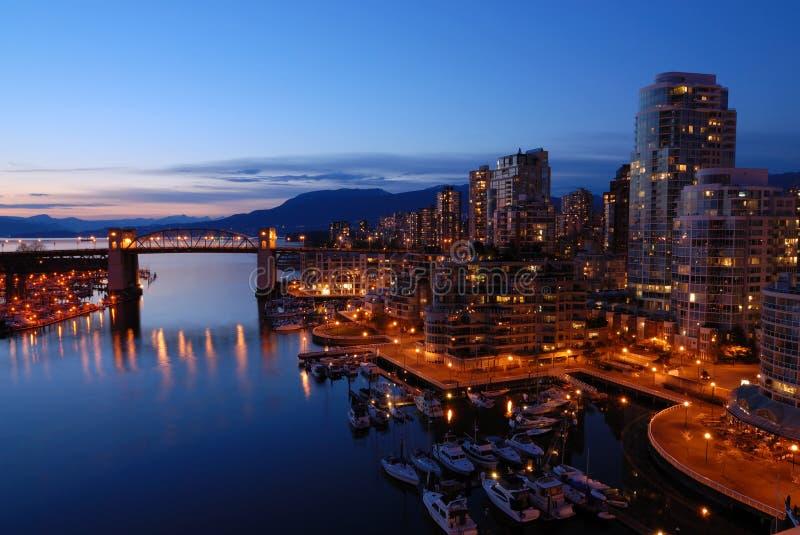 Ponticello storico di Burrard di Vancouver fotografie stock libere da diritti