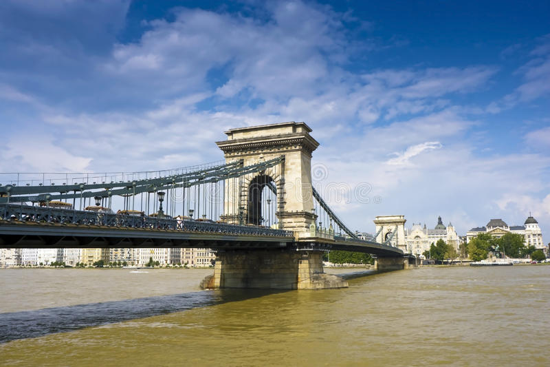 Ponticello sul Danubio immagini stock