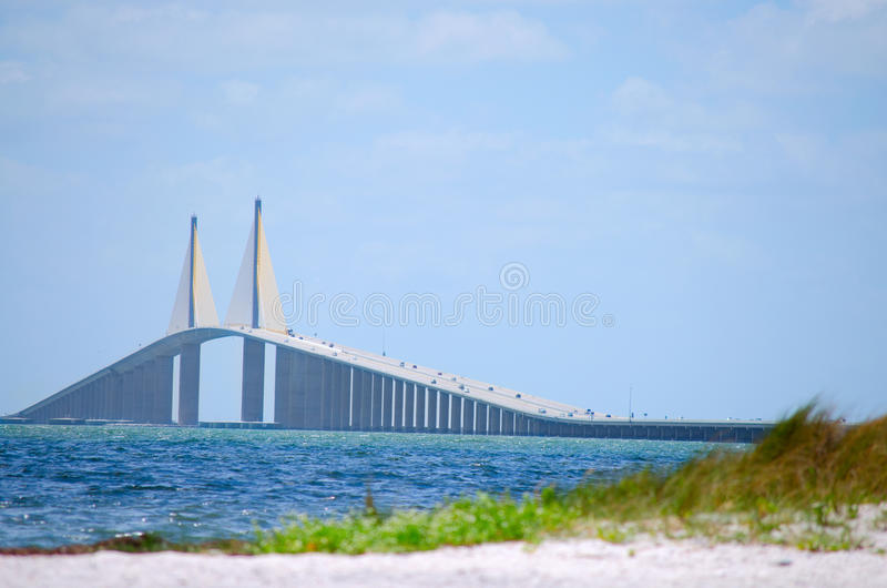 Ponticello Tampa Bay di Skyway del sole fotografie stock libere da diritti
