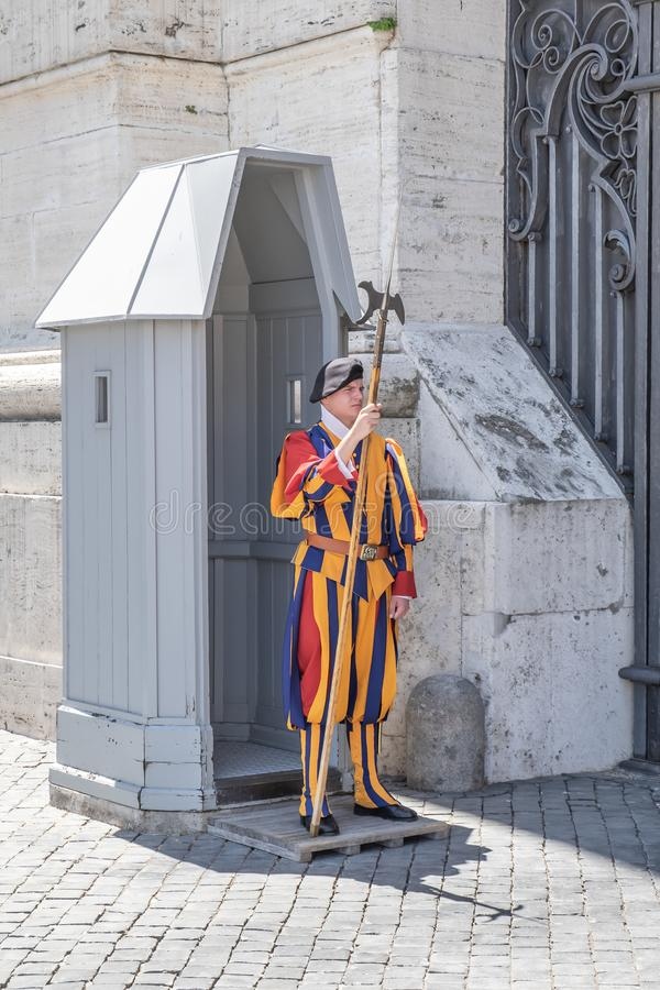 Pontifical Swiss Guard royalty free stock photos