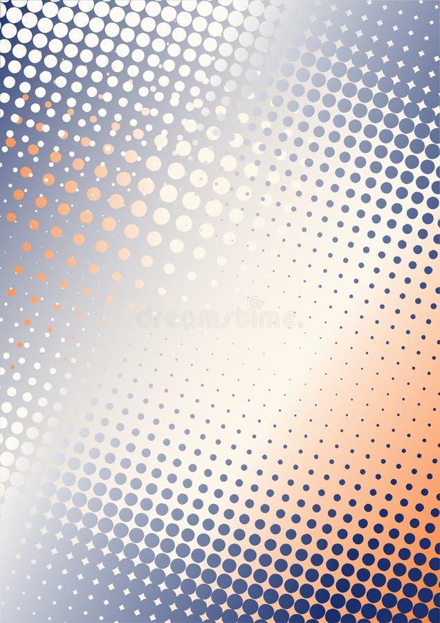 Pontilha a laranja azul do fundo b ilustração do vetor