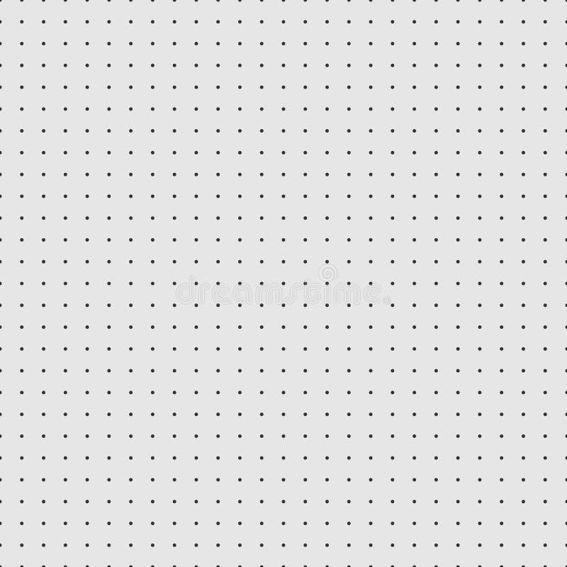 Pontilhe o papel de gráfico do papel do vetor da grade no fundo cinzento ilustração do vetor