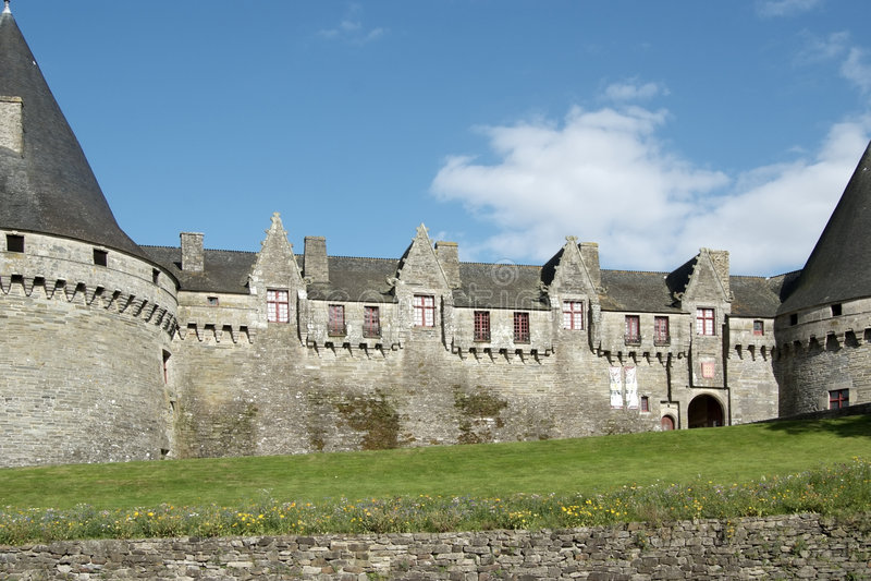 Pontivy Castle (Brittany - France) royalty free stock photo