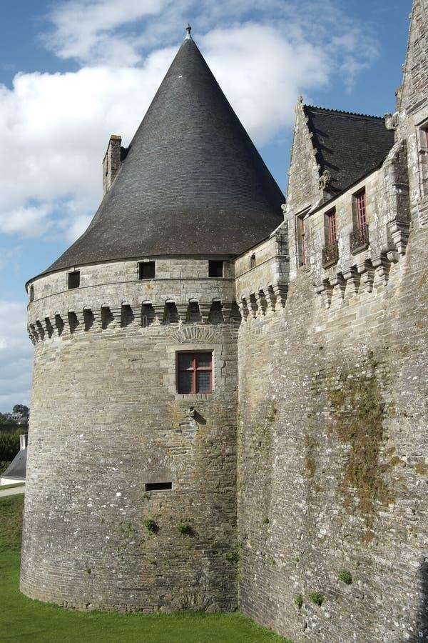 Pontivy Schloss (Bretagne - Frankreich) stockfotos