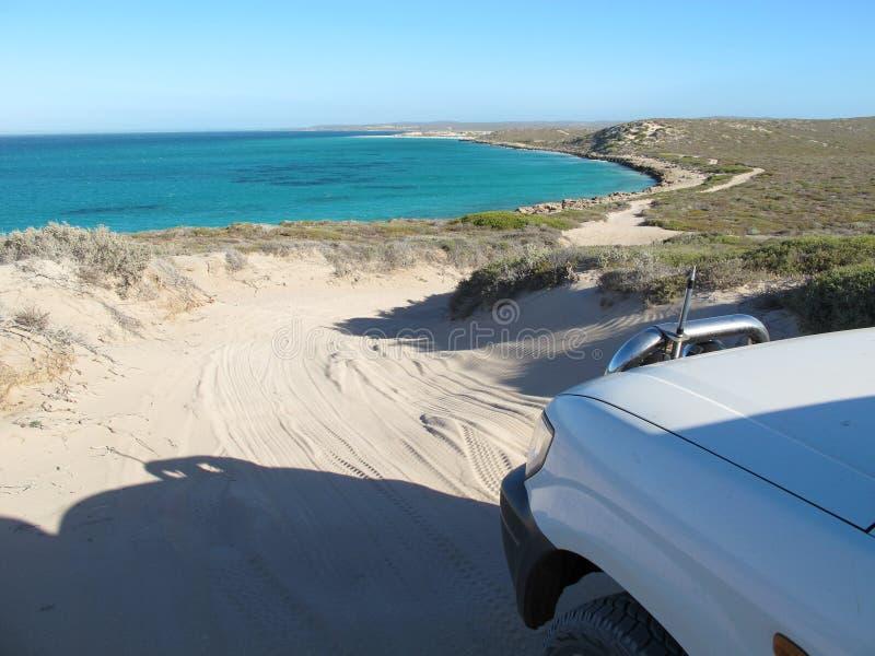 Ponto íngreme, ponto Westernmost, baía do tubarão, Austrália Ocidental fotografia de stock royalty free