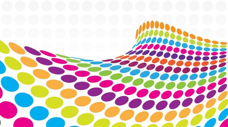 ponto 3D retro colorido de intervalo mínimo ilustração royalty free