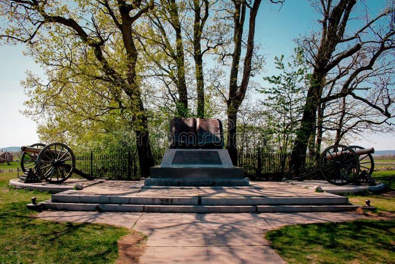 Ponto alto Mark Book de Gettysburg fotos de stock