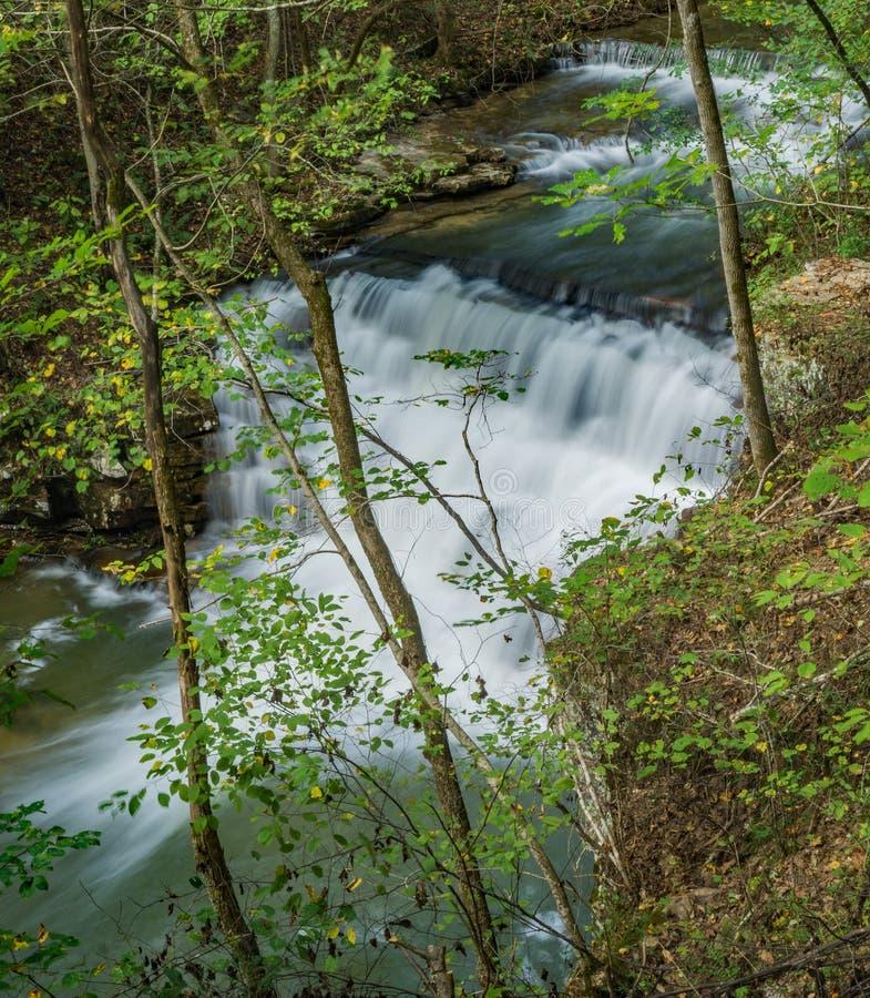 Ponto alto na cachoeira das minas de Fenwick - 3 imagens de stock