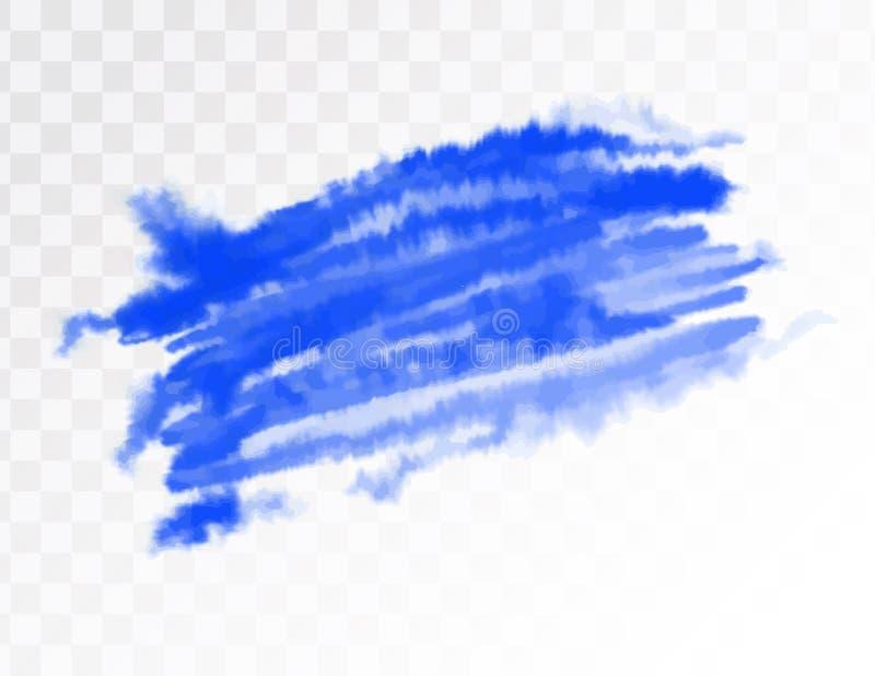 Ponto artístico da aquarela azul Ilustração do vetor, isolada no fundo transparente ilustração royalty free