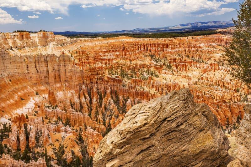 Ponto Bryce Canyon National Park Utah da inspiração dos azarentos imagens de stock royalty free