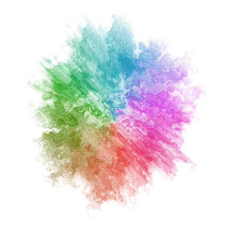 Ponto colorido abstrato da aquarela ilustração stock