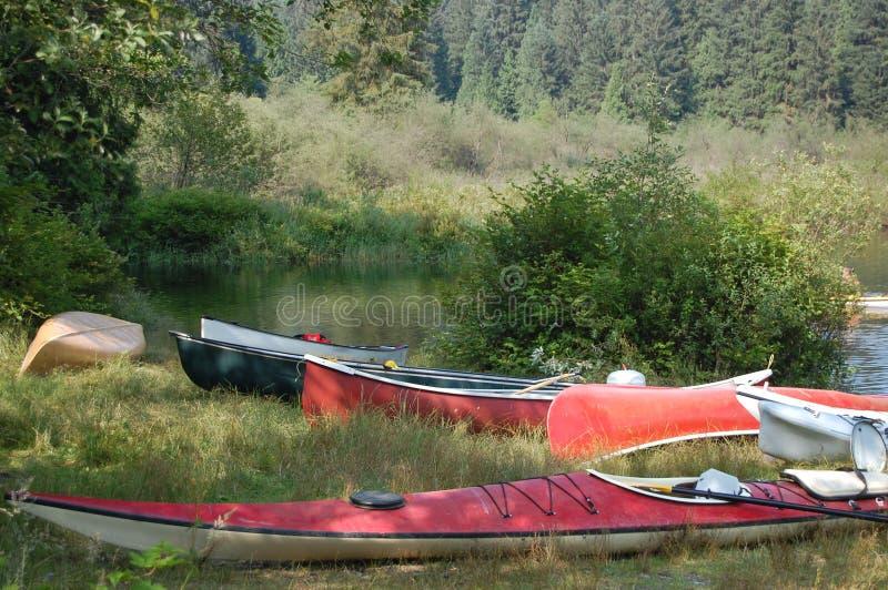 Ponto da aterragem do campground da angra do Widgeon imagens de stock