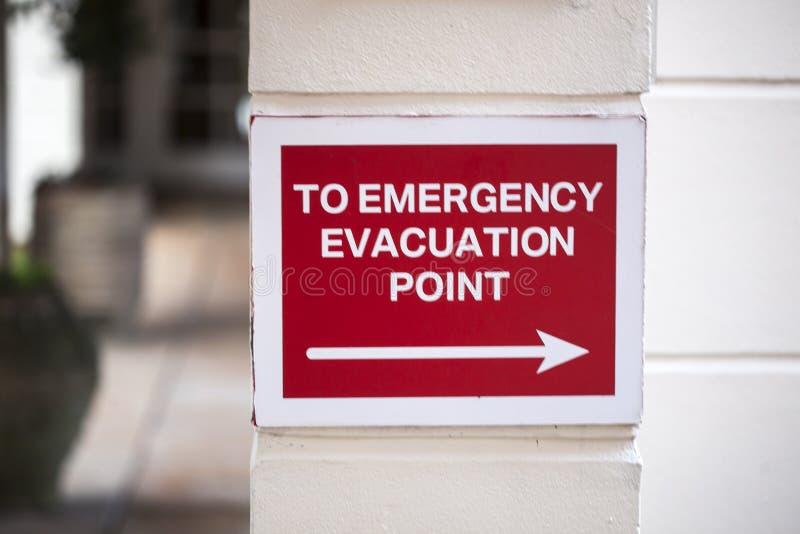 Ponto da evacuação da emergência fotos de stock