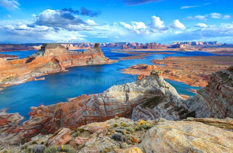 Ponto de Alstrom, lago Powell, página, o Arizona, Estados Unidos fotografia de stock