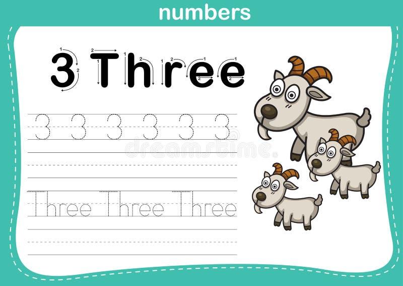 Ponto de conexão e exercício imprimível dos números ilustração stock