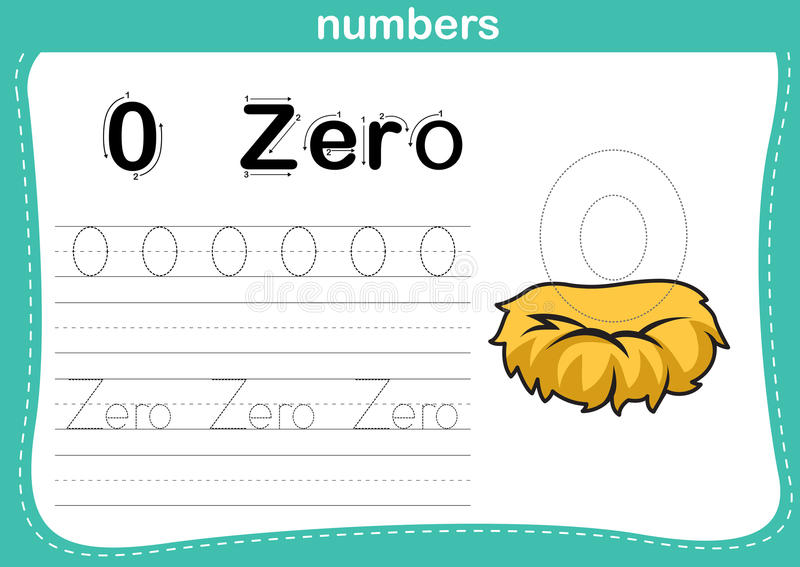 Ponto de conexão e exercício imprimível dos números ilustração do vetor