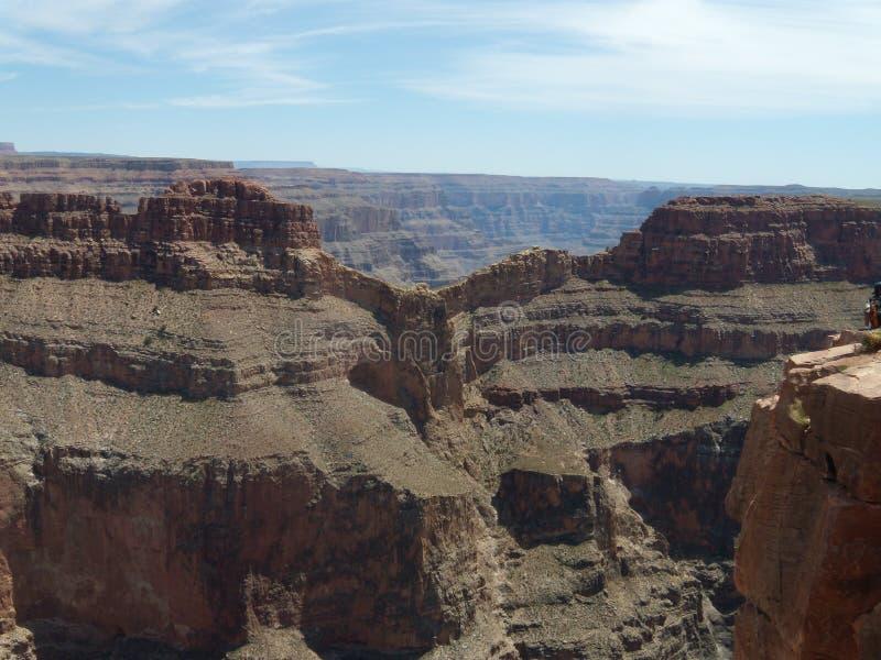 Ponto de Eagle, caminhada do céu, Grand Canyon fotografia de stock royalty free