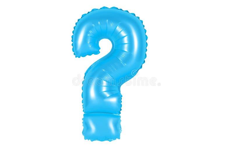 Ponto de interrogação, cor azul foto de stock royalty free