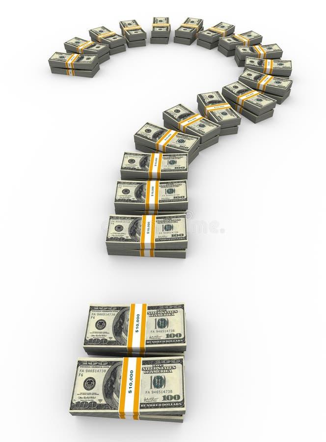 ponto de interrogação do dólar 3d ilustração do vetor