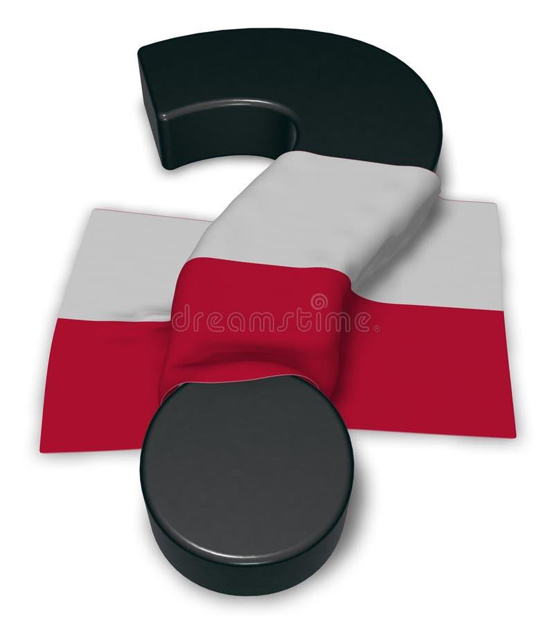 Ponto de interrogação e bandeira de poland ilustração do vetor
