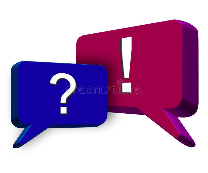 Ponto de interrogação e marca de exclamação ilustração stock