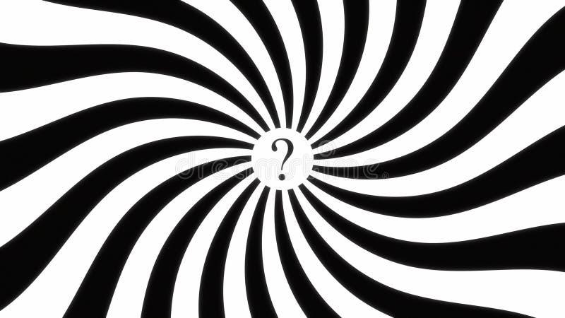 Ponto de interrogação hipnótico do dis da espiral ilustração stock