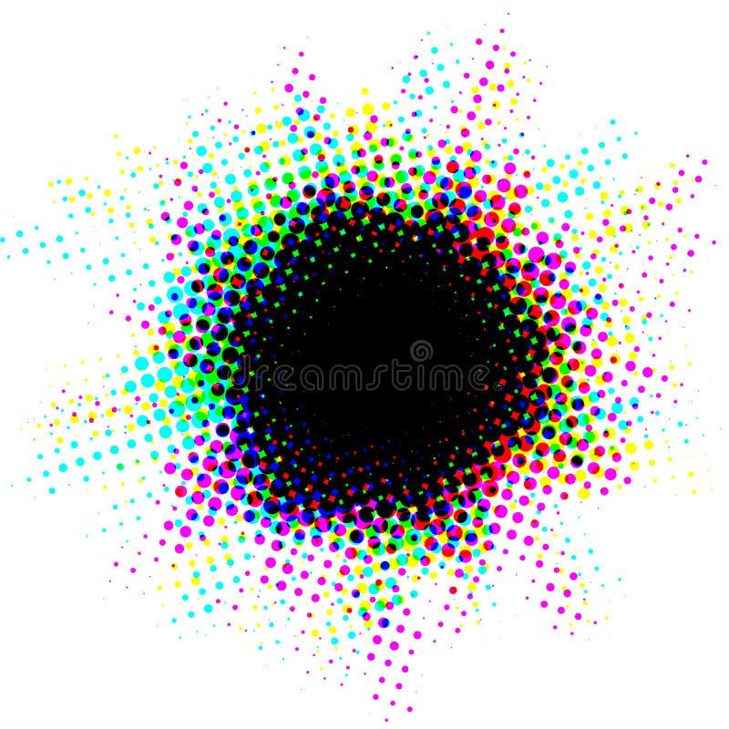Ponto de intervalo mínimo com efeito do overprinting ilustração do vetor