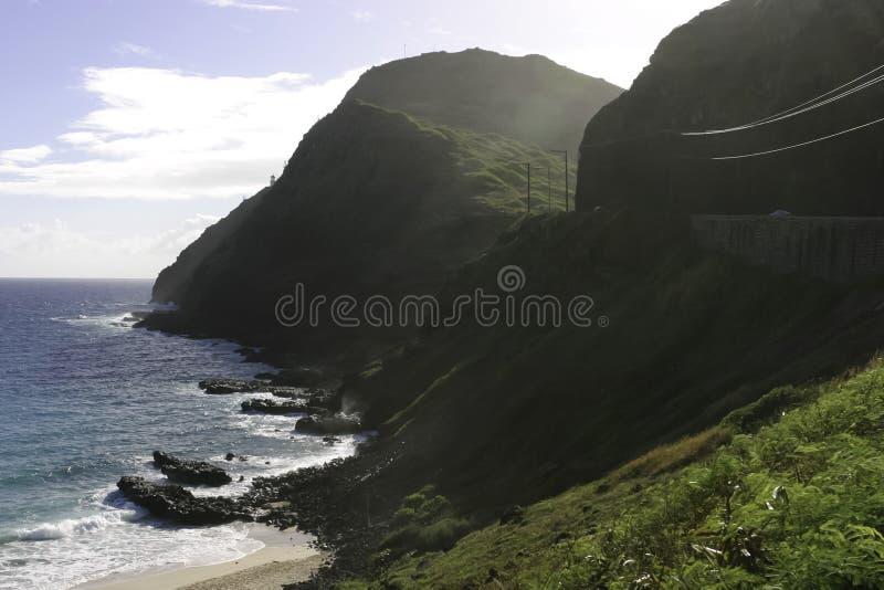 Ponto de Makapuu, Havaí fotos de stock
