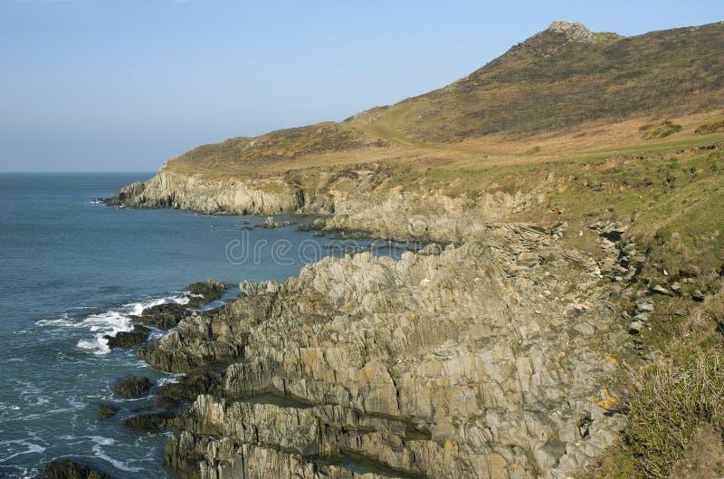 Ponto de Mort, Devon norte fotografia de stock royalty free