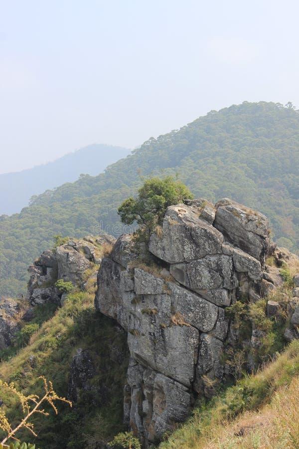 Ponto de opinião da rocha da agulha, Gudalur, Nilgiris, Tamilnadu, coimbatore imagem de stock royalty free
