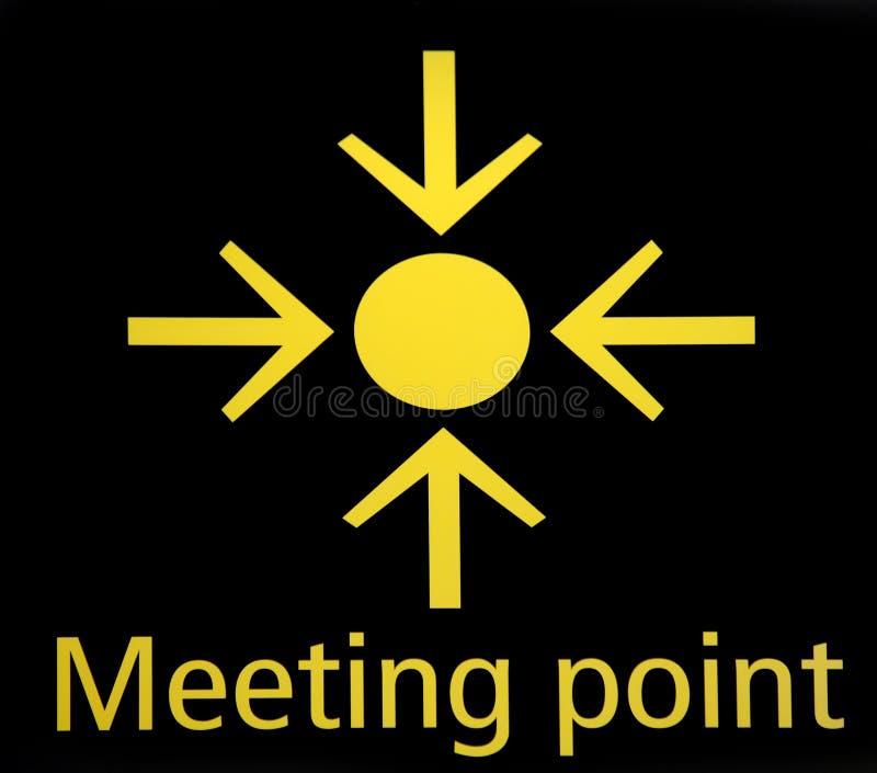 Ponto de reunião ilustração royalty free