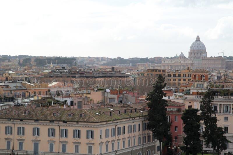 Ponto de visão perto da casa de campo Borghese, Roma, Itália imagens de stock royalty free