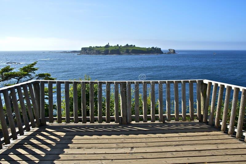 Ponto de vista da ilha do farol fotografia de stock