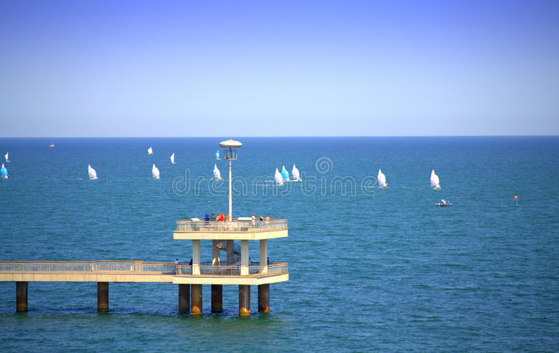 Ponto de vista da regata do mar foto de stock royalty free