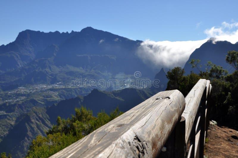 Ponto de vista de Cirque de Cilaos, Reunion Island foto de stock royalty free