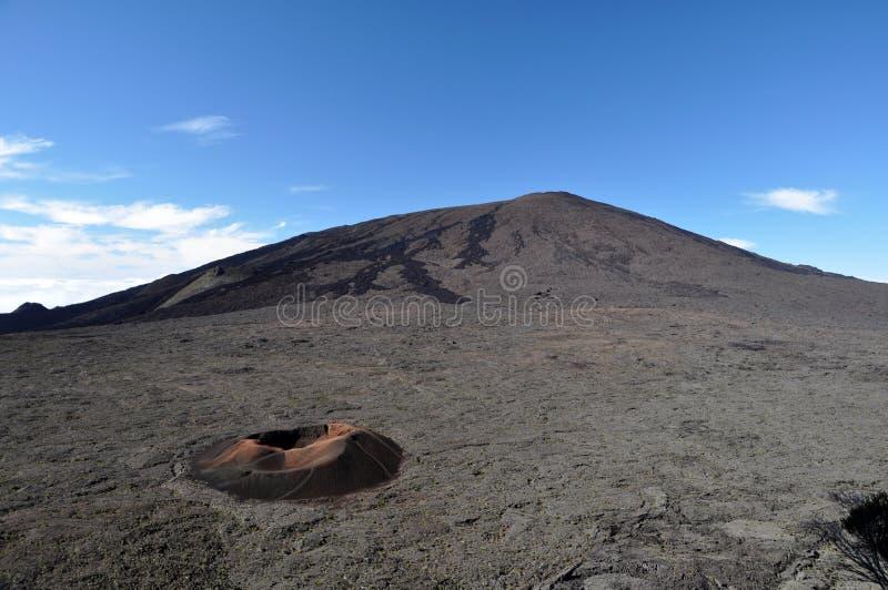 Ponto de vista de Le Volcan, Reunion Island fotografia de stock
