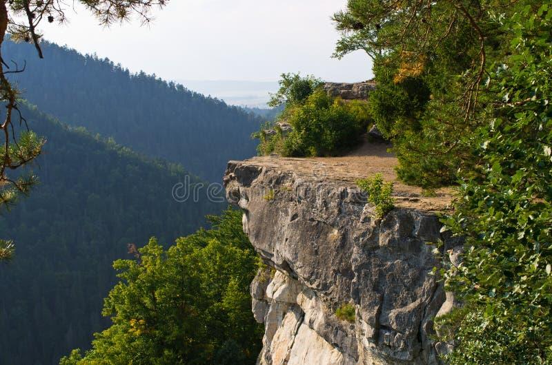 Ponto de vista de Tomasovsky Vyhlad no paraíso eslovaco imagens de stock