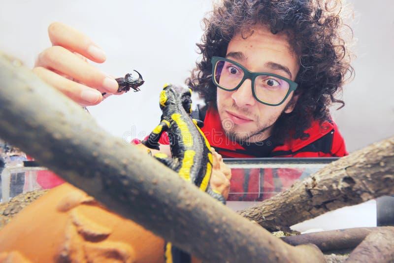 Ponto de vista de uma salamandra